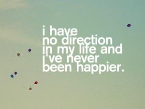no direction
